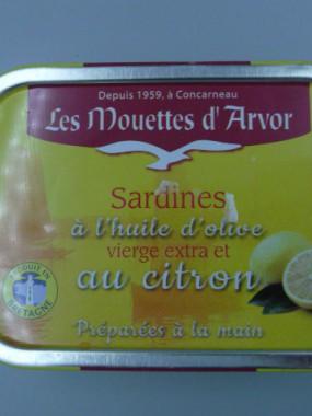 SARDINES A L'HUILE D'OLIVE ET AU CITRON